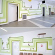Nagy Diána grafikusművész falai a Révész utcai gyermekrendelőben (Forrás: hg.hu)