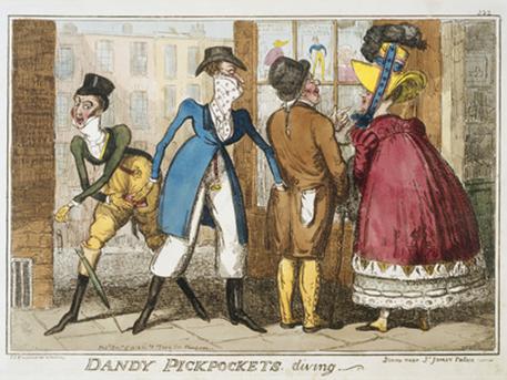 George Cruikshank: Dandy pickpockets