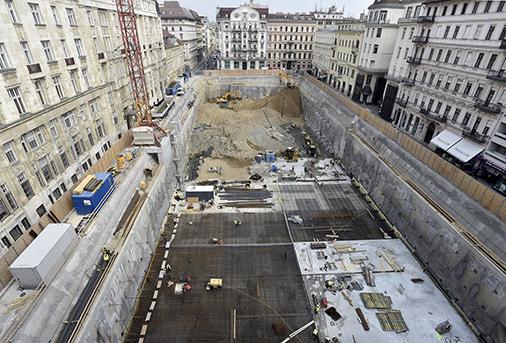 Itt tart most az építkezés, fotó: MTI