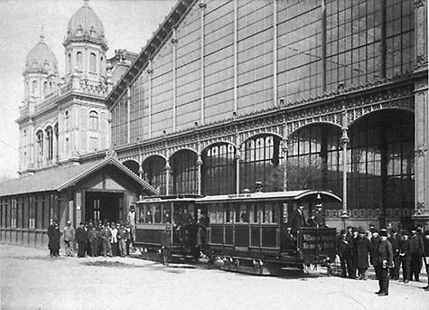 Az első budapesti villamos, fotó: régi magyar villamosok